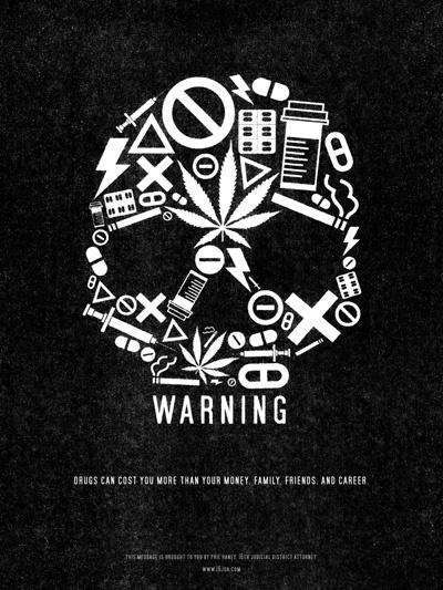 Drug Warning Poster by Jude Landry