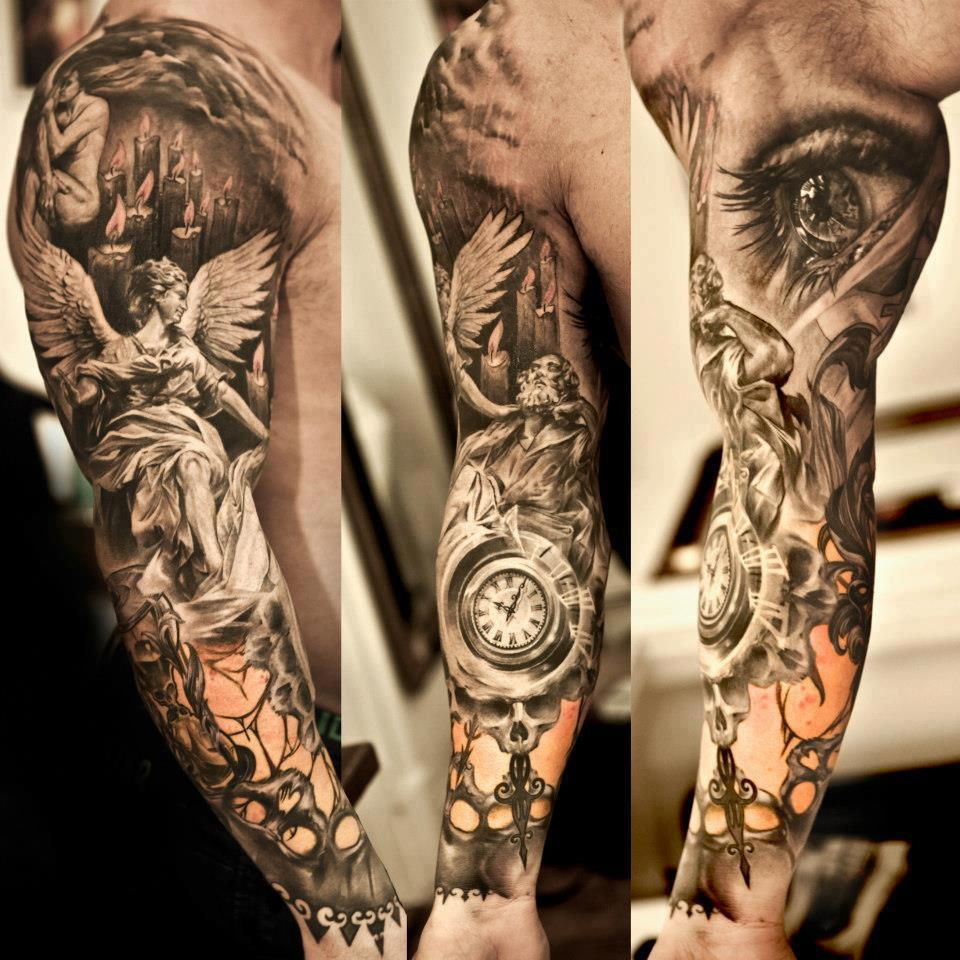 Incredible sleeve tattoo by Niki Norberg