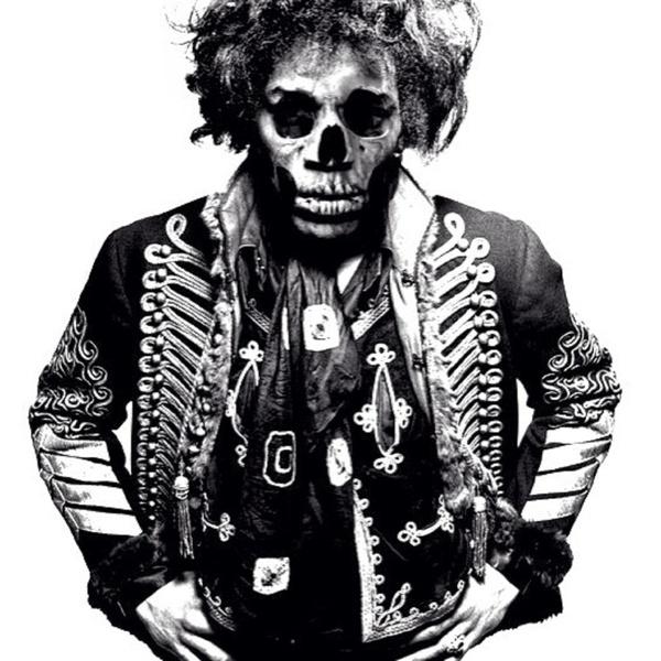 Jimi Hendrix skull portrait
