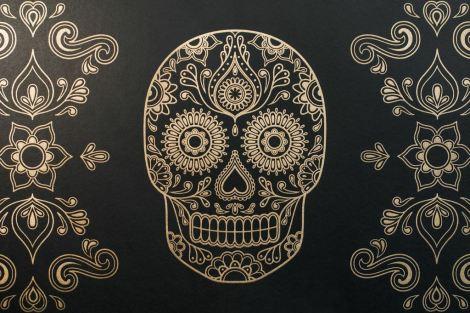 Mexican Day of the Dead Sugar Skull Wallpaper 2