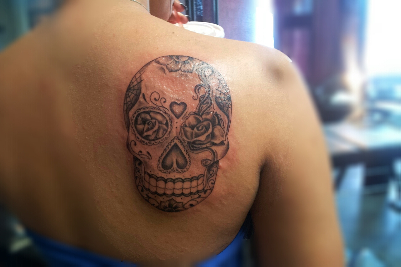 Mexican sugar skull tattoo for Candy skull tattoo