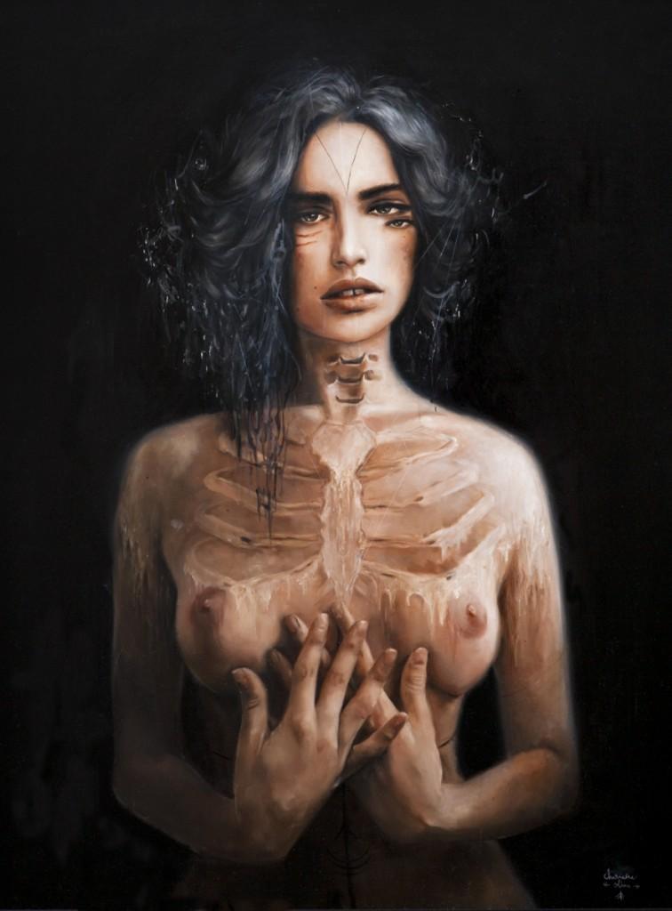 Skeleton paintings by Olivia Charmaine 1
