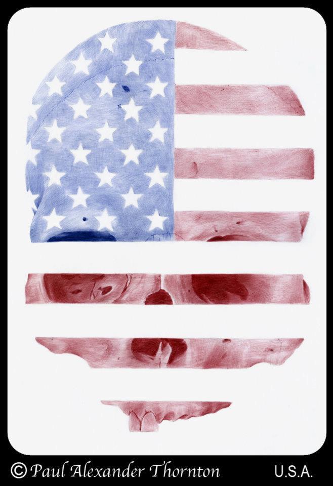 Skull Flags by Paul Alexander Thornton