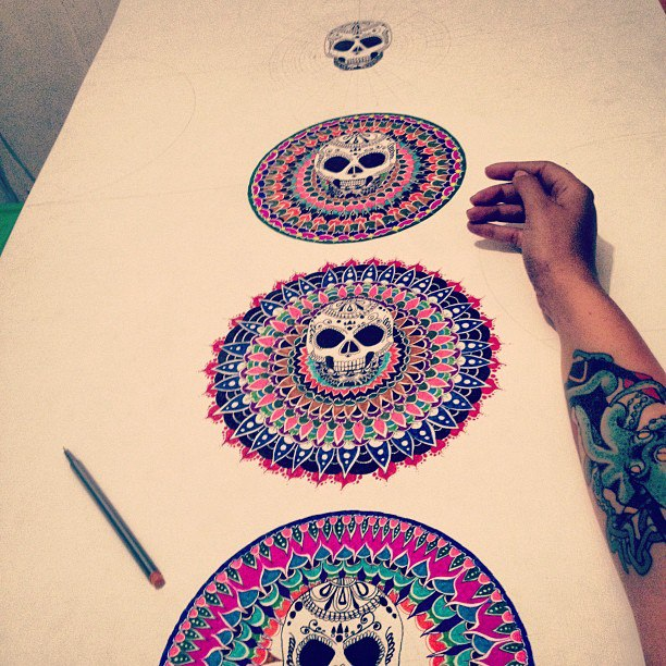 Skull illustrations by Fran Cáceres Beffermann 3
