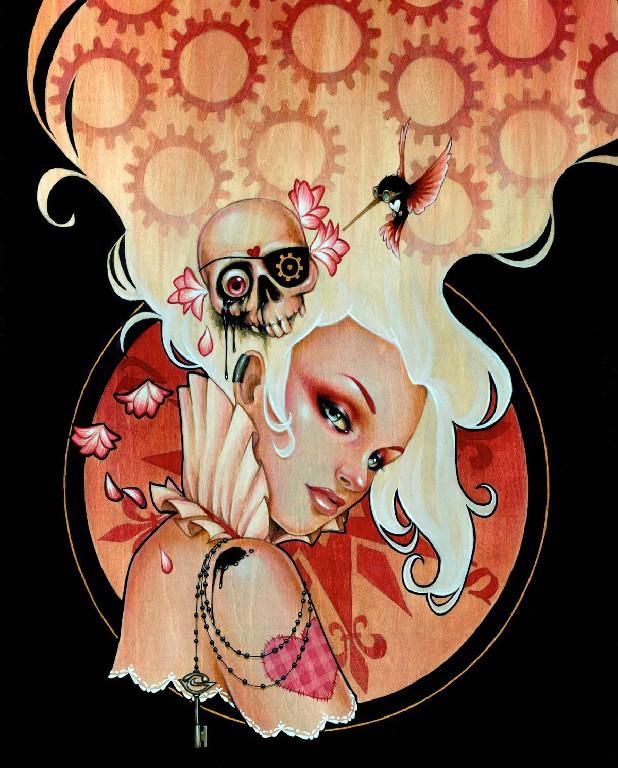 Skull paintings by Glenn Arthur (2)