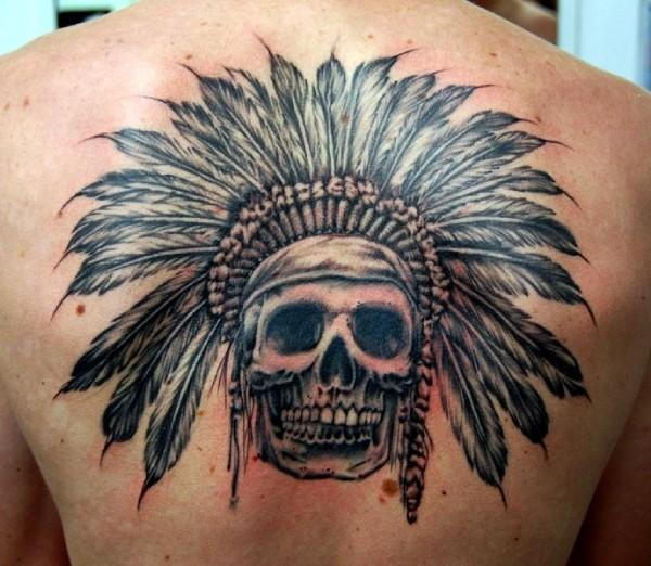 indian skull tattoo (2)