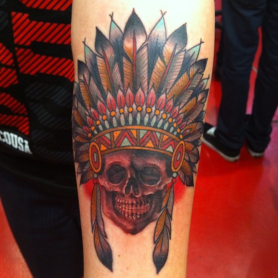 indian skull tattoos 1