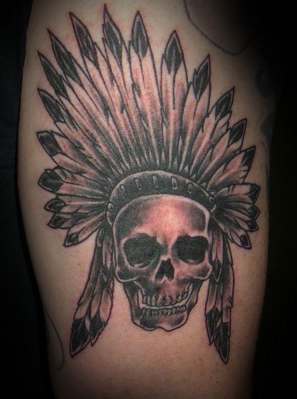 indian skull tattoos 2