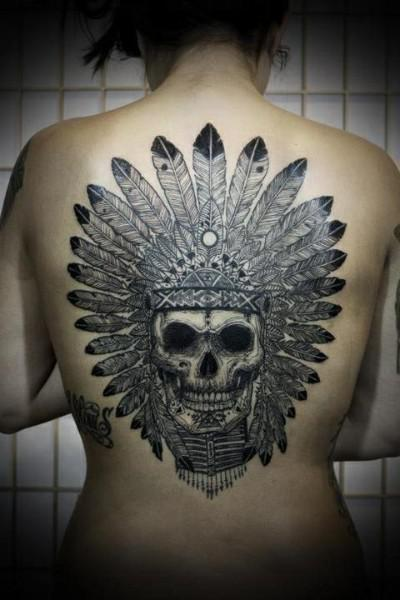 indian skull tattoos