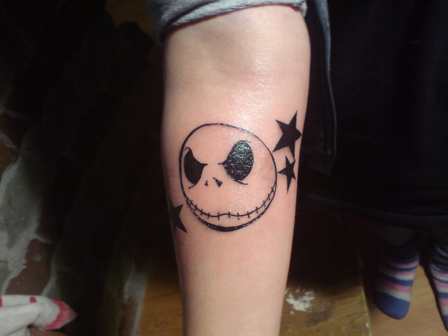 jack skellington tattoo by deedeeko