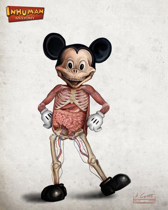mickeys anatomy by alessandro conti