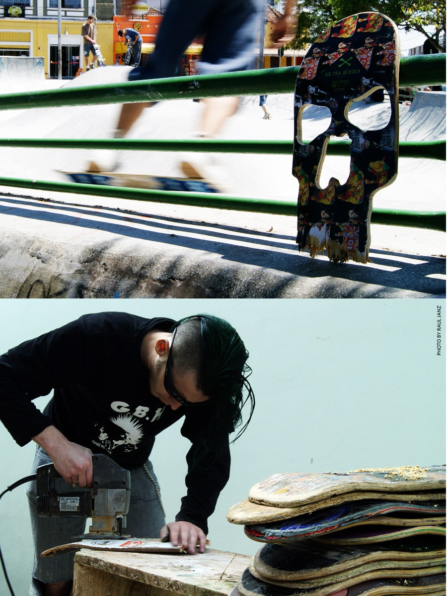 Skateboard skulls by Beto Janz 2