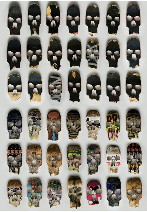 Skateboard skulls by Beto Janz
