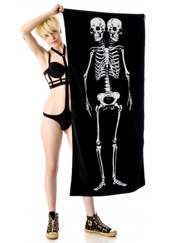 Skeleton Beach Towel