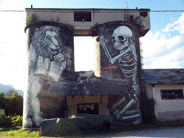 Skeleton Mural 1