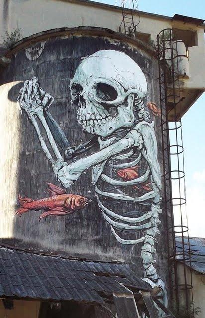 Skeleton Mural