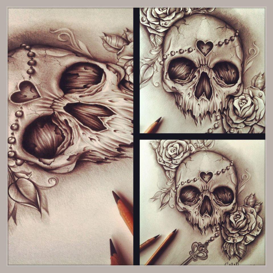 Skull Ink Designs by Edward Miller 3