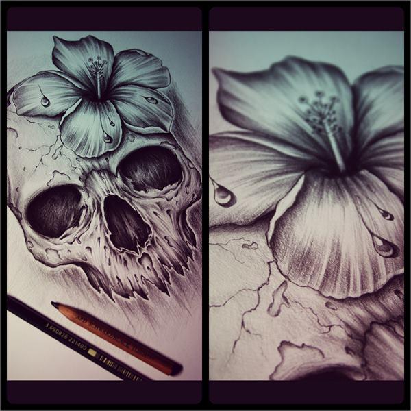 Skull Ink Designs by Edward Miller