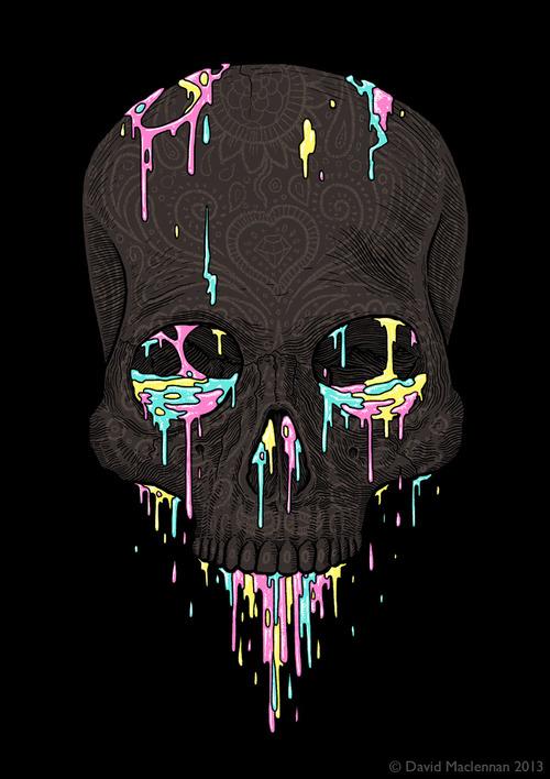 Skull illustration by David Maclennan