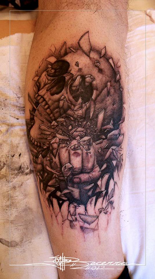 Skull tattoo by j becerra