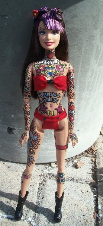 Tattoo Barbies by Susie Humphrey 1