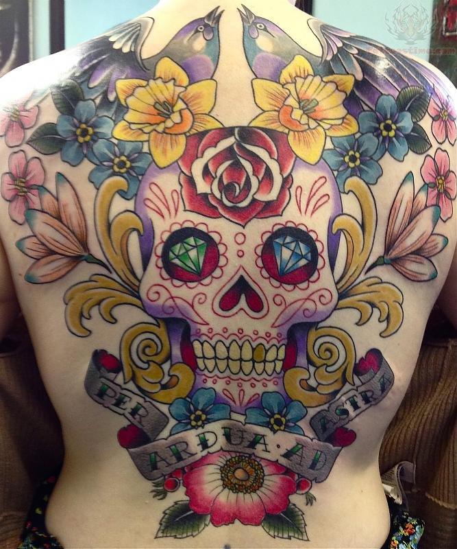 30 Full Back Skull Tattoos