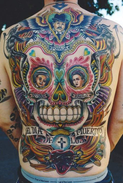 Skull Angel Wings Tattoos