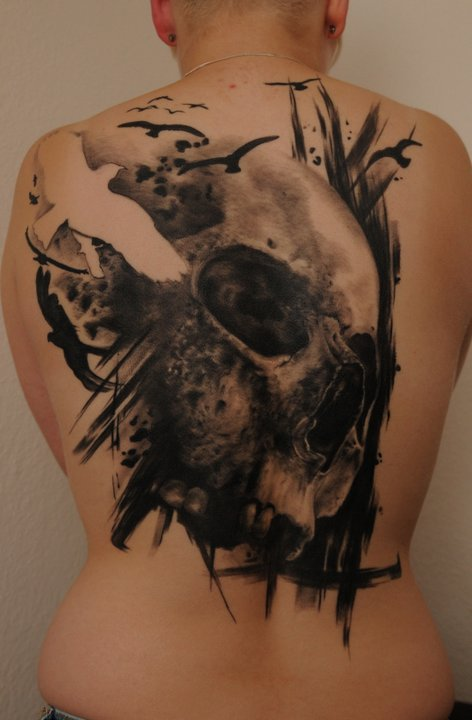 skull large tattoo