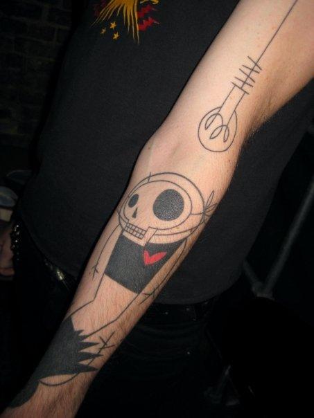 stylish skull tattoo (2)