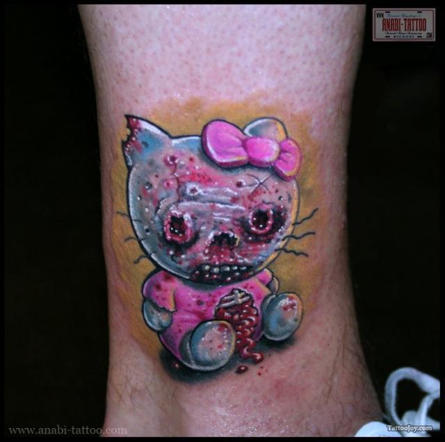 Zombie Hello Kitty tattoos 1
