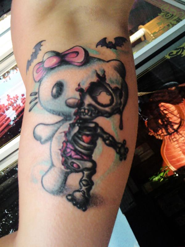 Zombie Hello Kitty tattoos