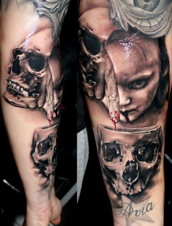 Kostas Baronis Proki tattoo