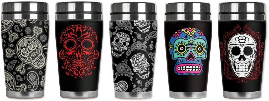 Mugzie Travel Mugs - Sugar Skulls 1