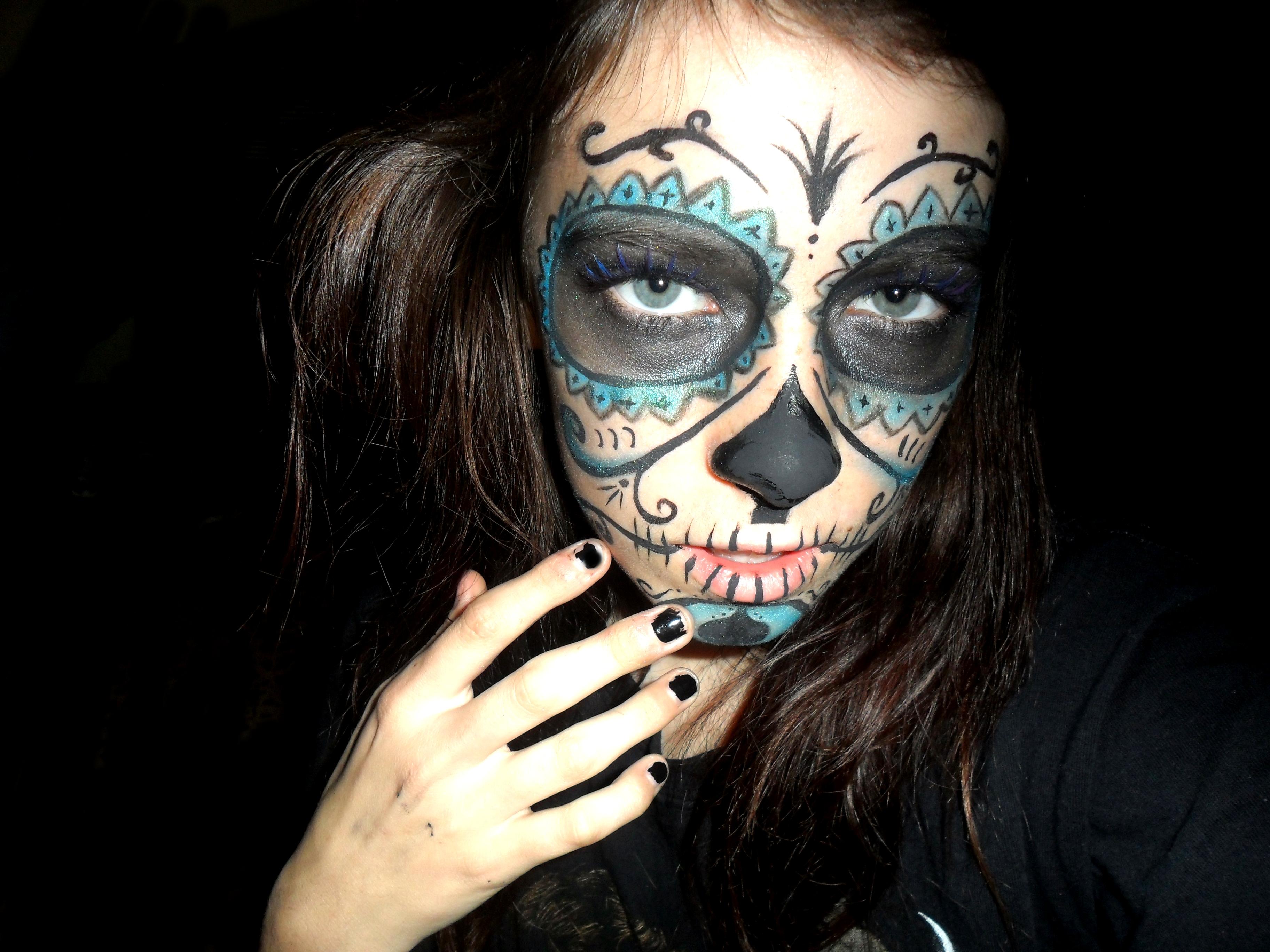 Skull makeup idea