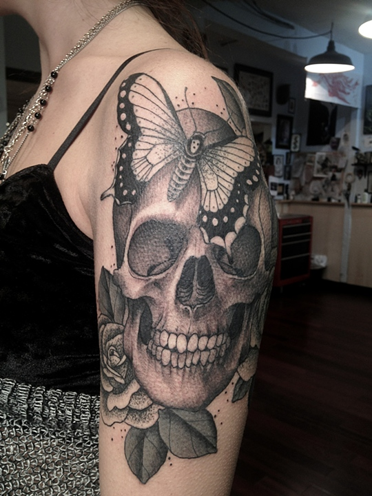 Skull tattoo by Erik Jacobsen