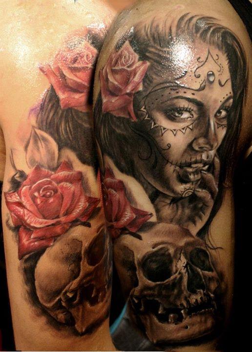 Skull tattoos by Kostas Baronis Proki 2