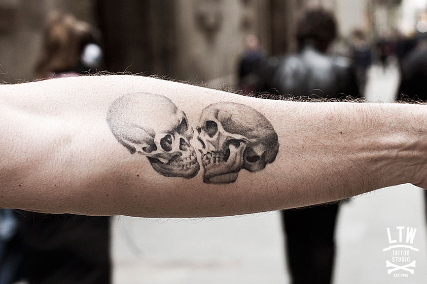 Skulls tattoo by Jon Pall