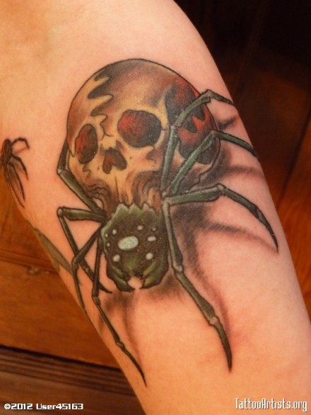 spider-skull-tattoo