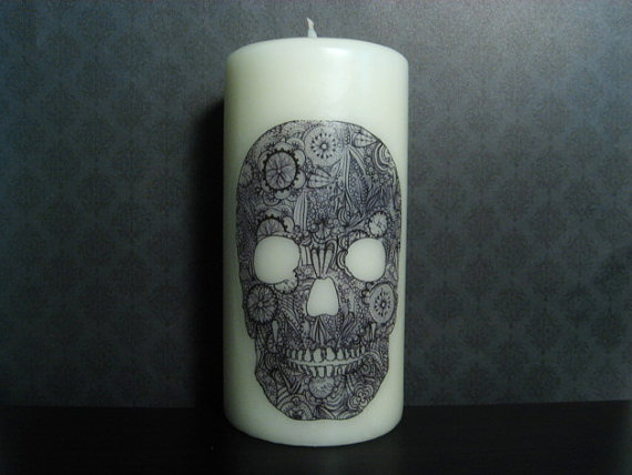 victorian skull candles 1