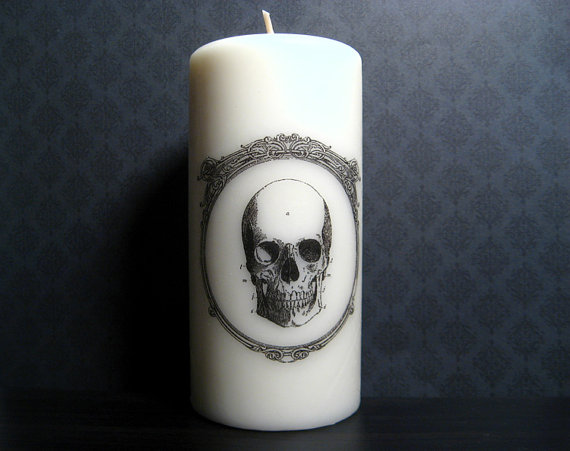 victorian skull candles
