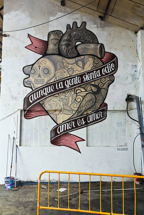 Skull Street Art by Boa Mistura
