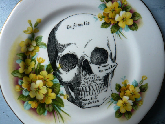 Skull Vintage Plate 3