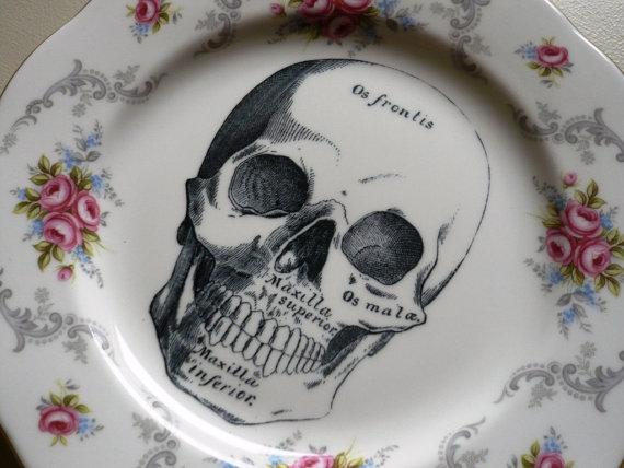 Skull Vintage Plate