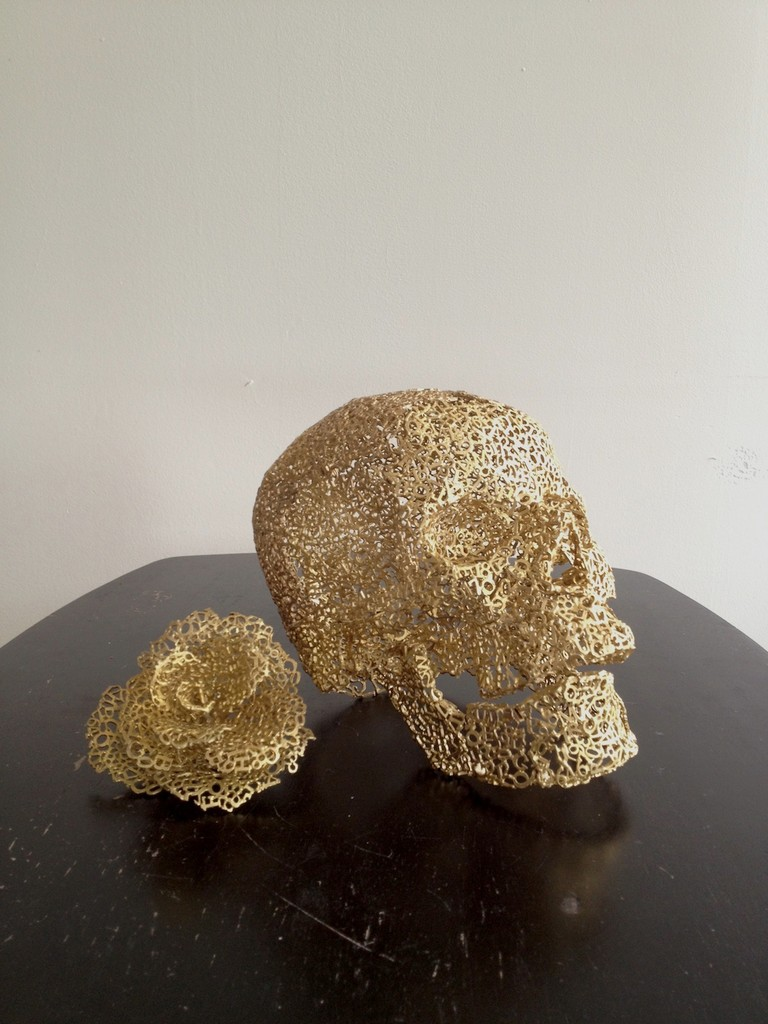 Skull and Rose Ornaments