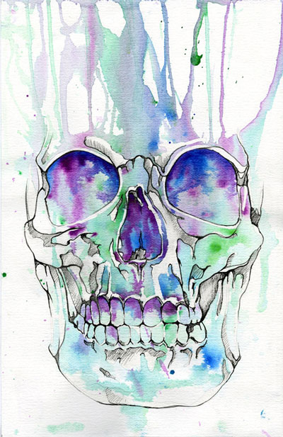 Skull illustration by Muideen Ogunmola