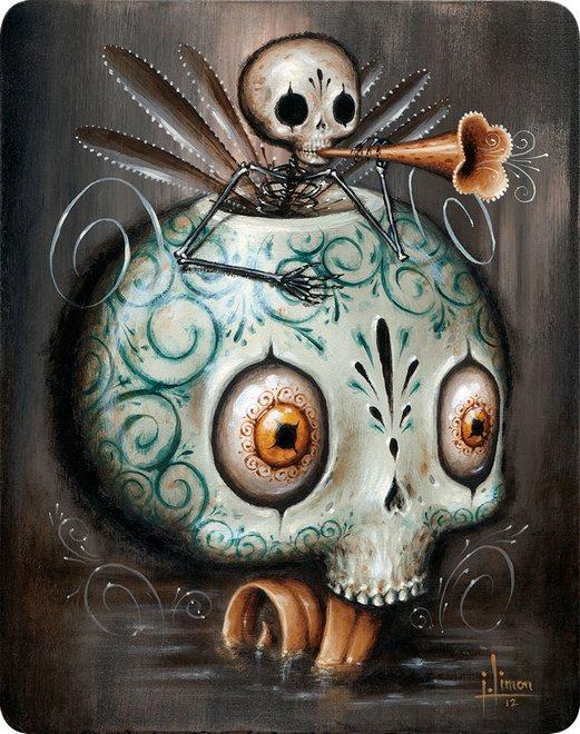 Skull paintings by Jason Limon 3