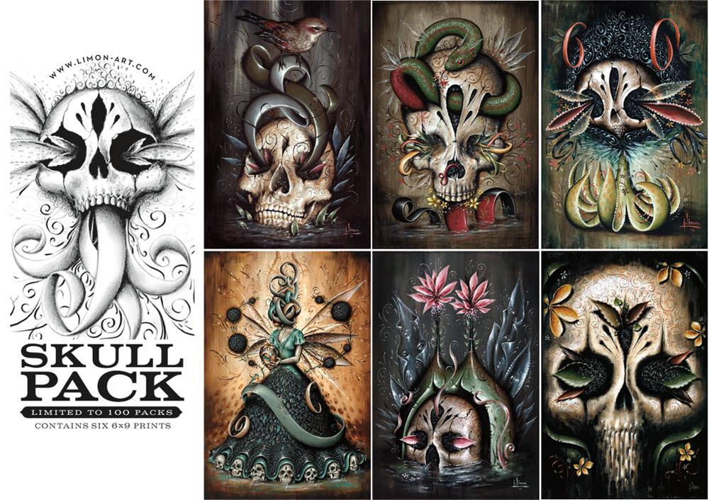Skull paintings by Jason Limon