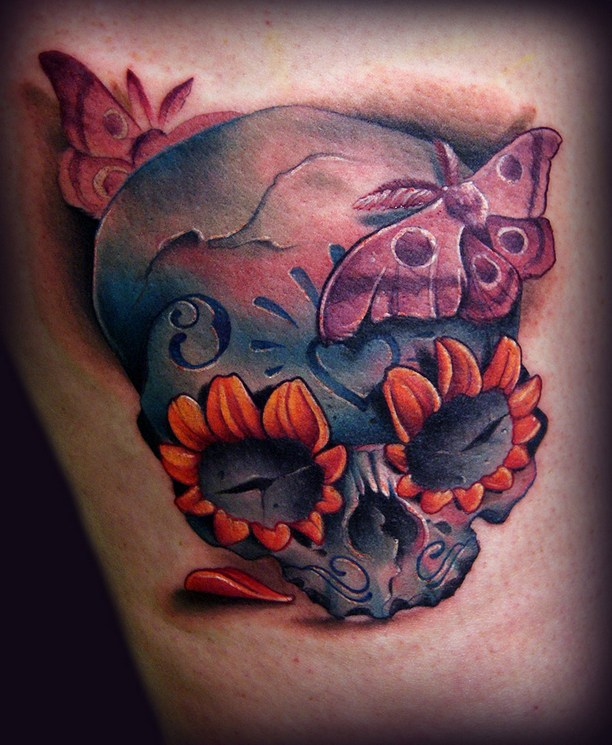 Skull tattoos by Kelly Doty 3