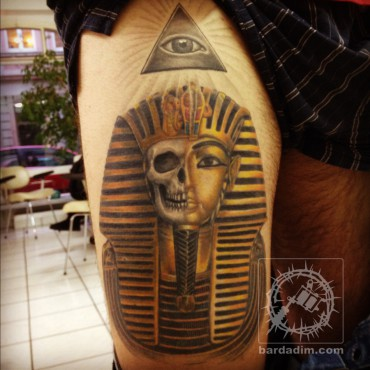 Pharaoh skull tattoo