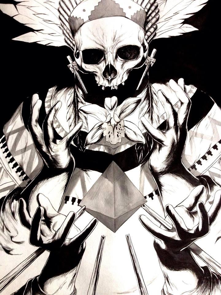 Skull illustration 1